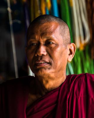 Monk, Bagan, Malaysia