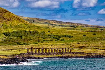 Moai at  Ahu Tongariki, Rapa Nui
