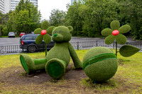 """Astro-turf"" Sculpture in a Park"